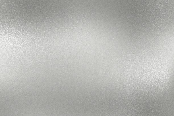 texture of rough silver metallic plate, abstract background - nickel stock photos and pictures