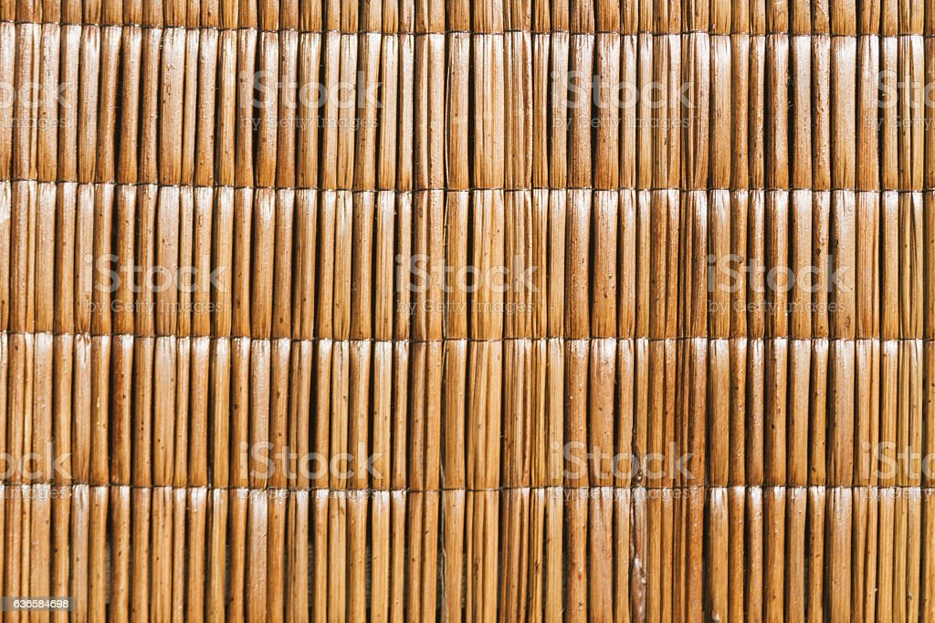 Texture of rustic mat reeds stock photo