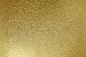 Texture of shiny old golden plate, abstract background, selective focus