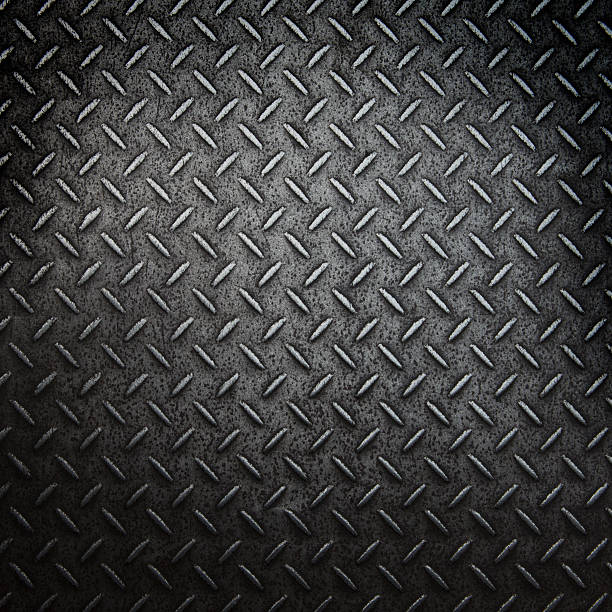 texture of steel - diamond plate background stock photos and pictures