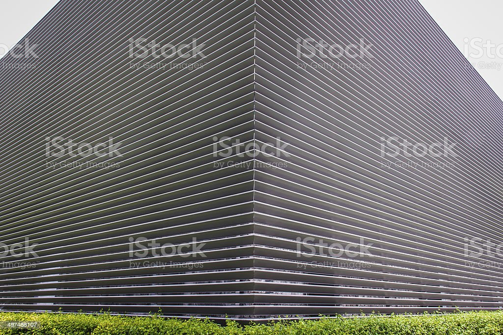 texture of steel ventilation grille the wall of a building stock photo