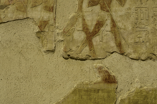 614744994 istock photo Texture of stones in Egyptian temples 909871200