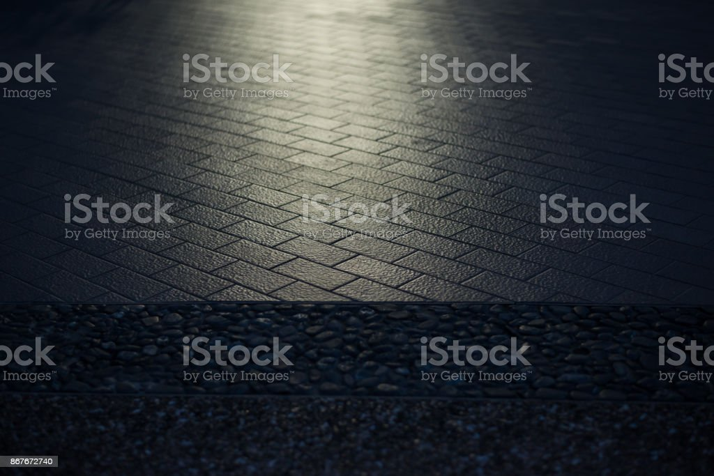 Texture of street or road ground floor with lighting to shine the...