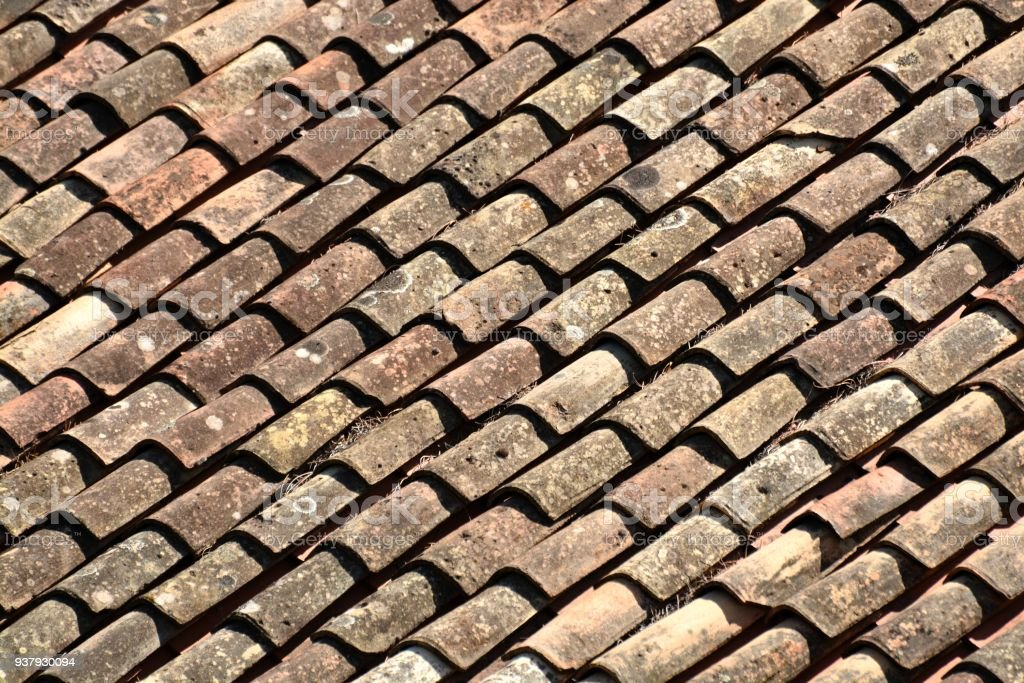 Texture Of Terracotta Of Tiles Stock Photo & More Pictures of