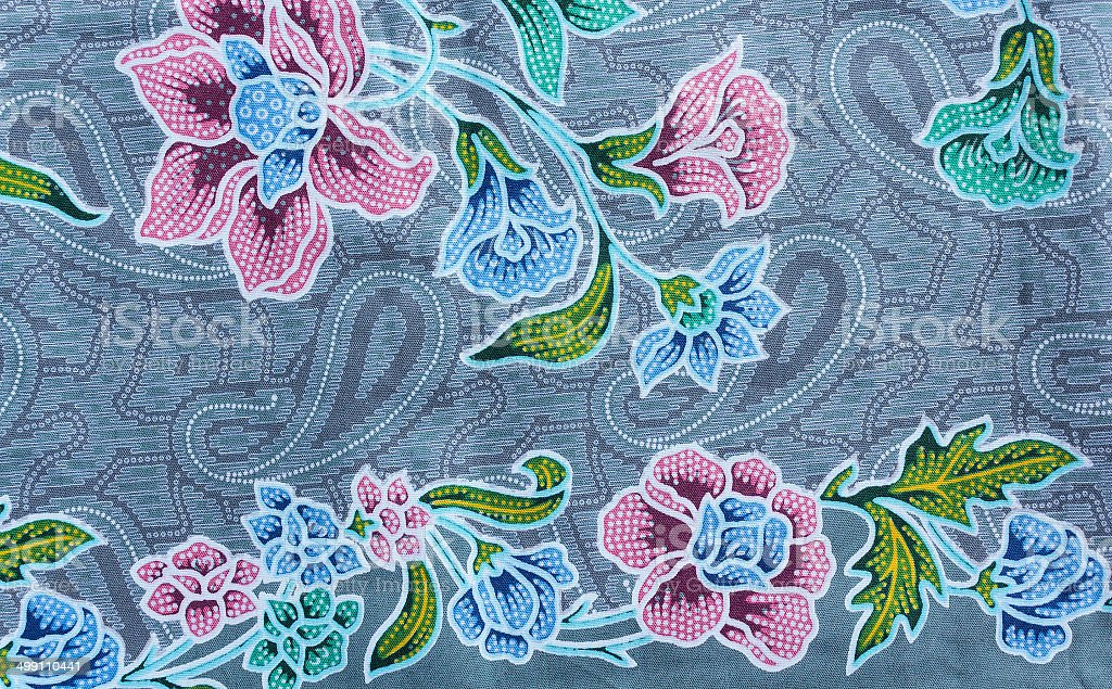 Texture of thai fabric stock photo