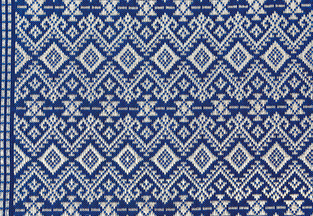 Texture of Thai silk pattern, stock photo