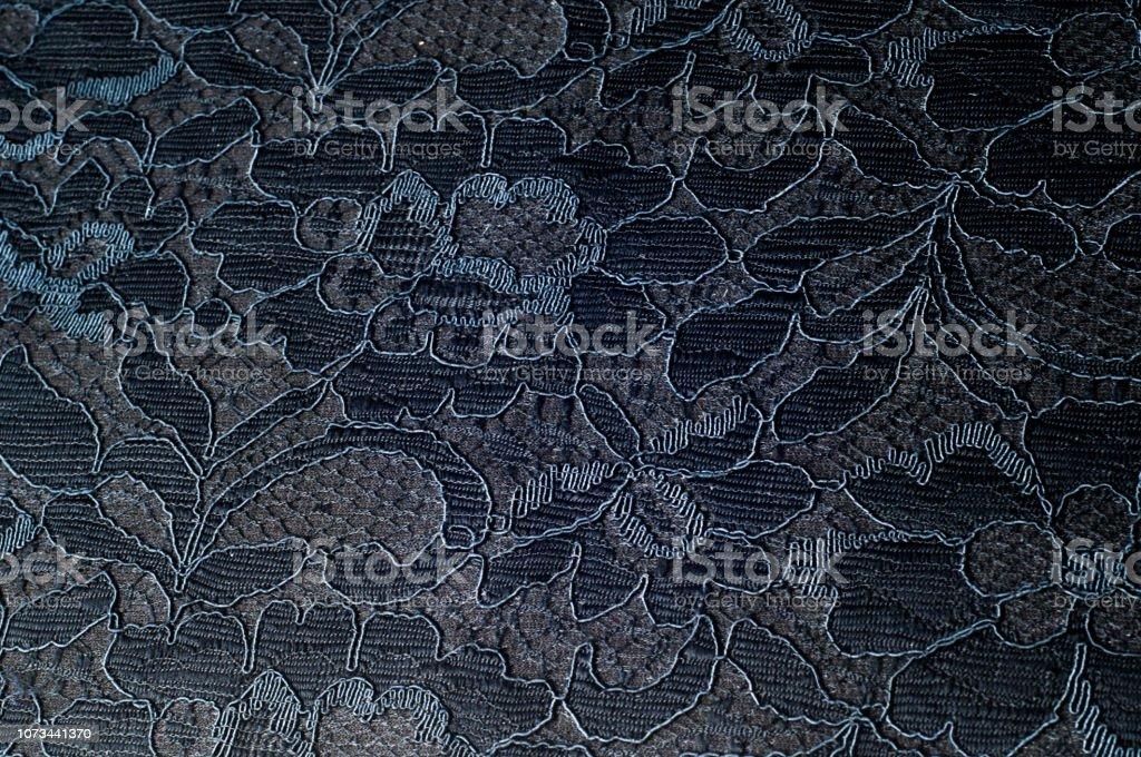 Textura da imagem de fundo, fundo de flor de renda preta - foto de acervo