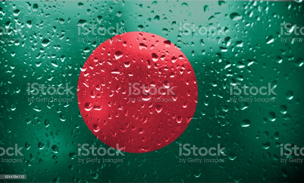 Texture of the Bangladesh flag stock photo