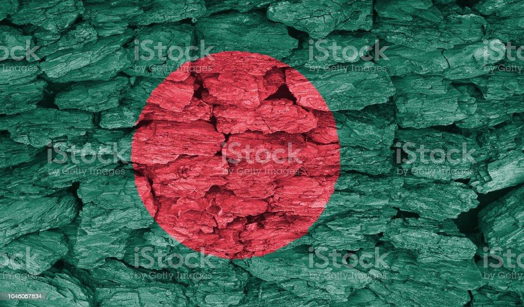 Texture of the Bangladesh stock photo