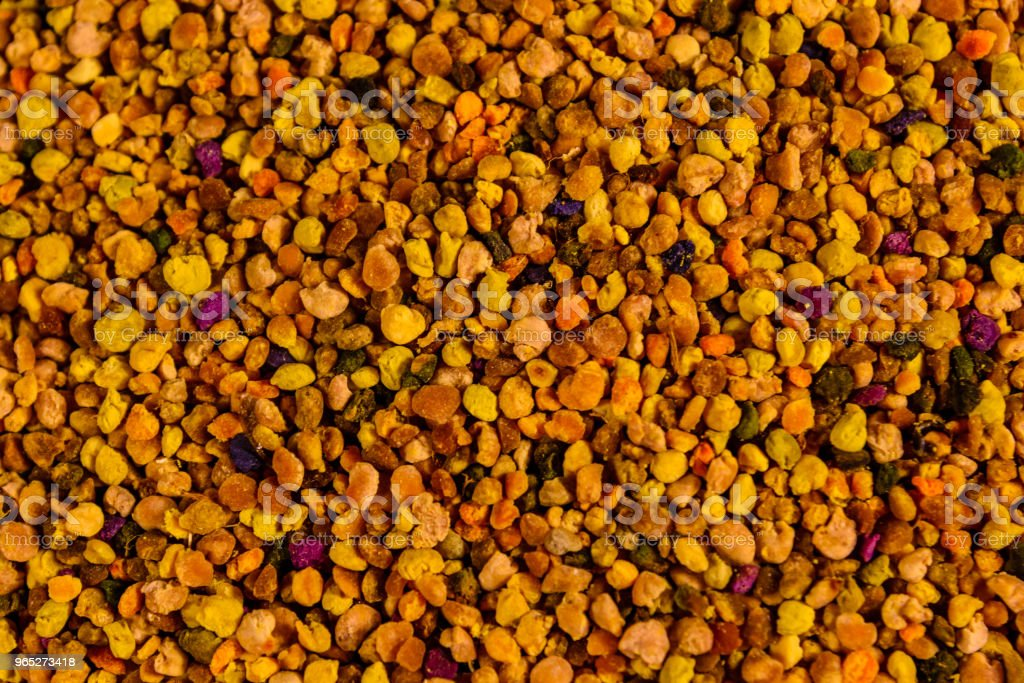 Texture of the bee pollen for the background royalty-free stock photo