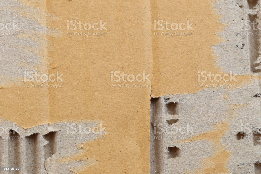 Texture of the brown paper box for the design background. 免版稅 stock photo