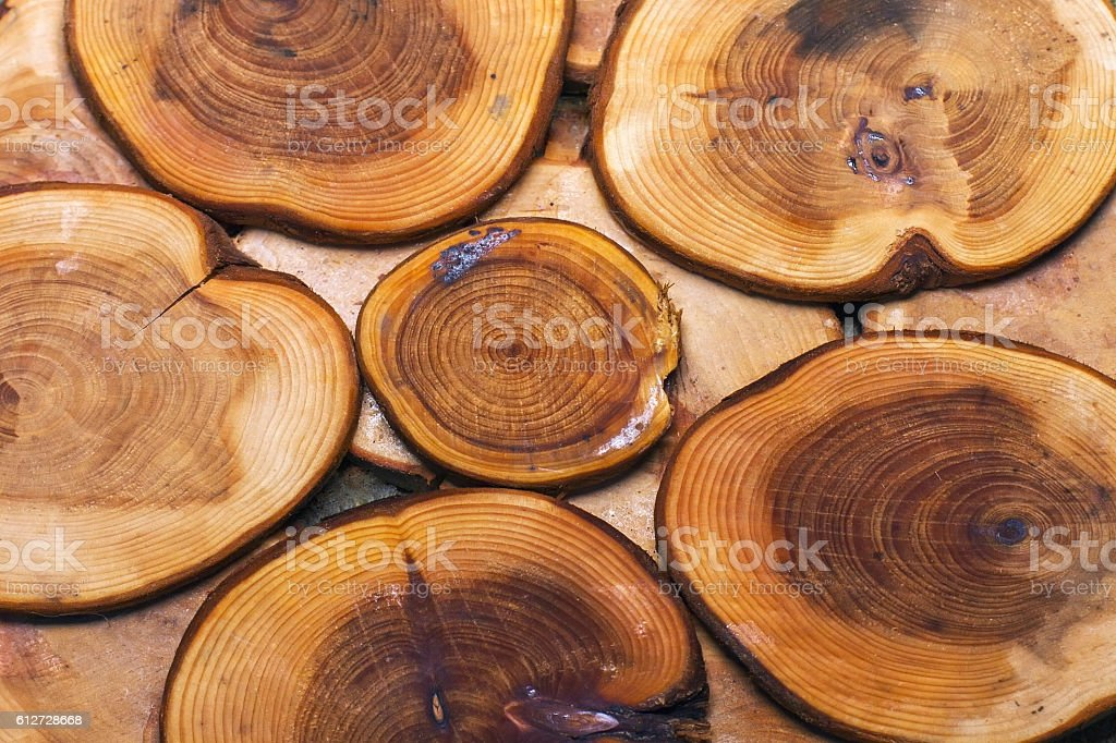 texture of the logs of wood products, for background stock photo