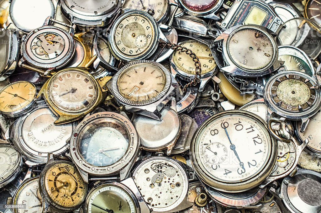 texture of the old clock,a lot of old clock stock photo