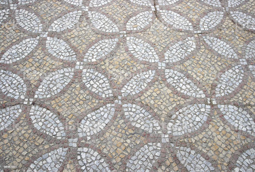 texture of the old floor mosaic royalty-free stock photo