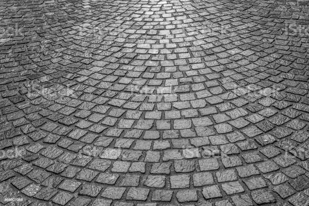Texture of the paving stone pavers stock photo