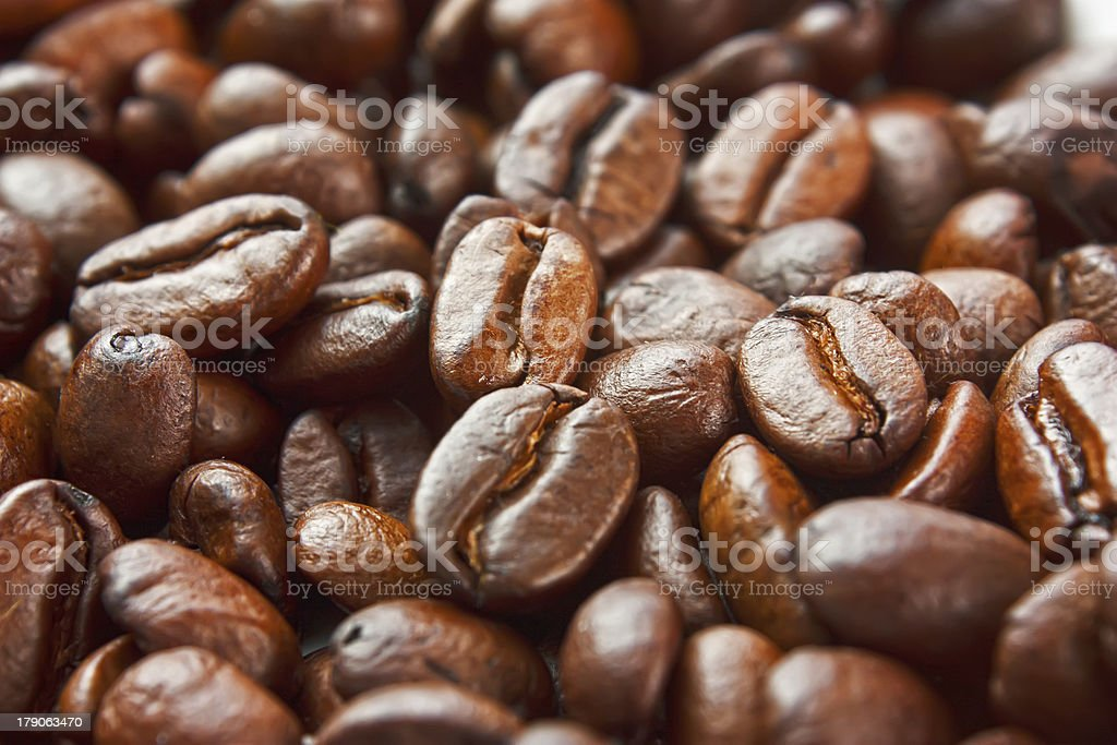 texture of the roasted coffee beans royalty-free stock photo