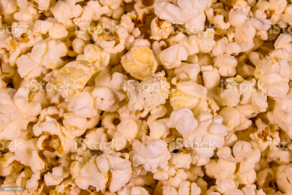 Texture of the roasted popcorn for the background royalty-free stock photo
