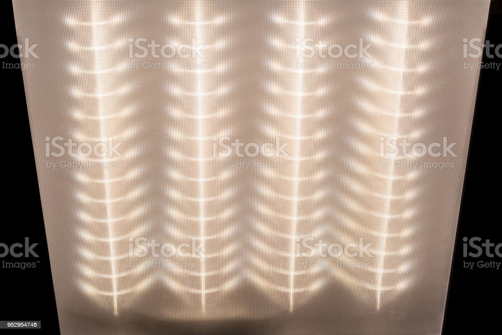 Texture Of The Surface Diffuser Led Ceiling Light Light Pattern On