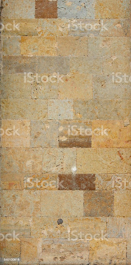 texture of the walls. famous Pudost stone Big Gatchina Palace stock photo