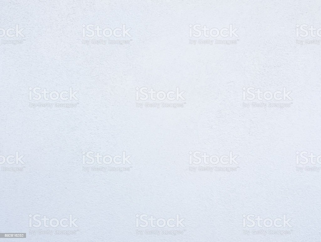Texture of the white cement wall with primer paint. stock photo