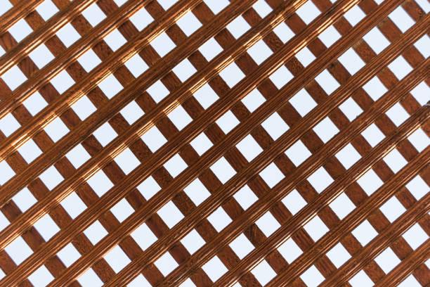 Textura de enrejado de madera - foto de stock