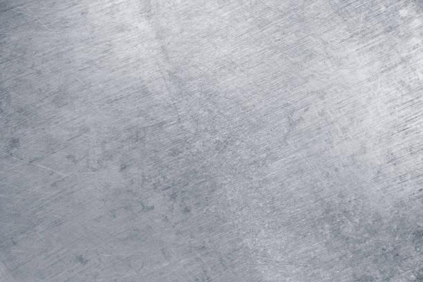 textuur van blikken, zilver metaal als achtergrond - roestvrij staal stockfoto's en -beelden