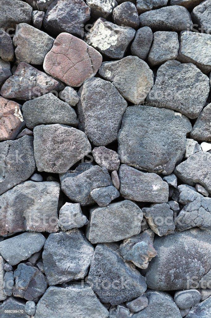 Texture of Volcanic Rock Wall of Hawaii stock photo