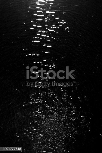 134949478 istock photo texture of water on black background, Water in night time 1201777818