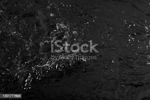 134949478 istock photo texture of water on black background, Water in night time 1201777834