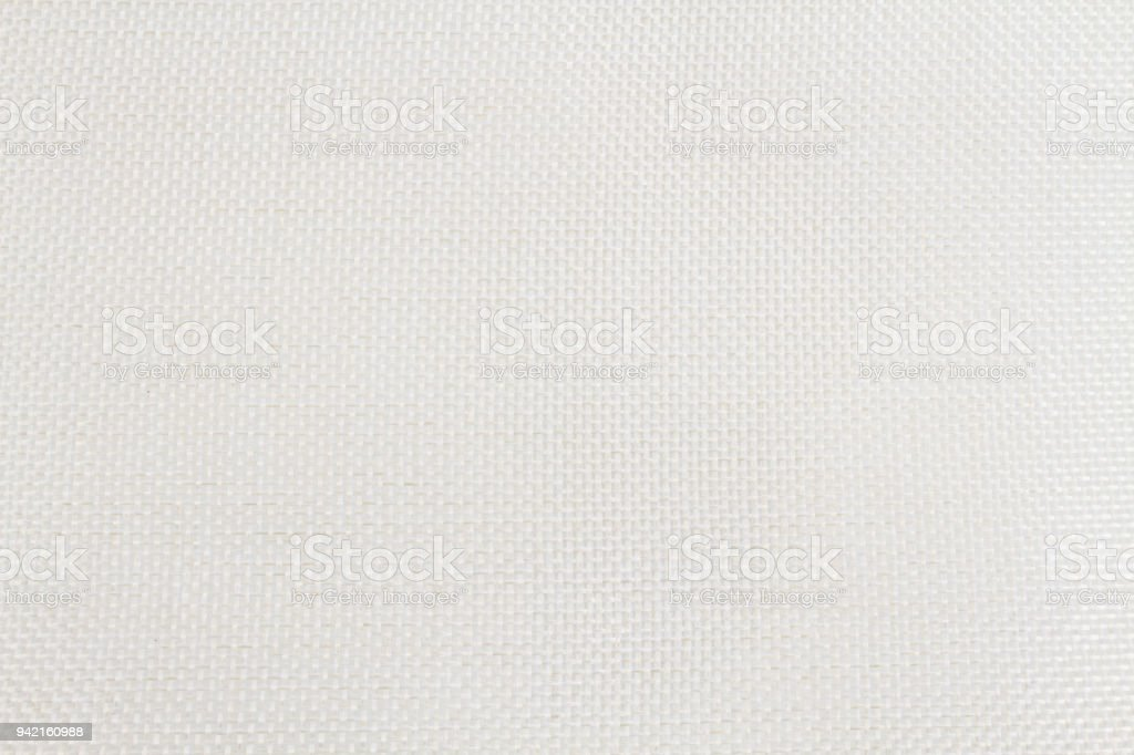 Texture of white calico fabric. stock photo