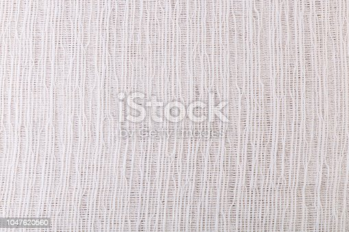 istock Texture of white gauze fabric for the background. 1047620560
