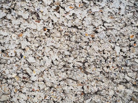 973649382 istock photo Texture of white porous stone block, foam concrete. Gray porous wall texture for background 950883724
