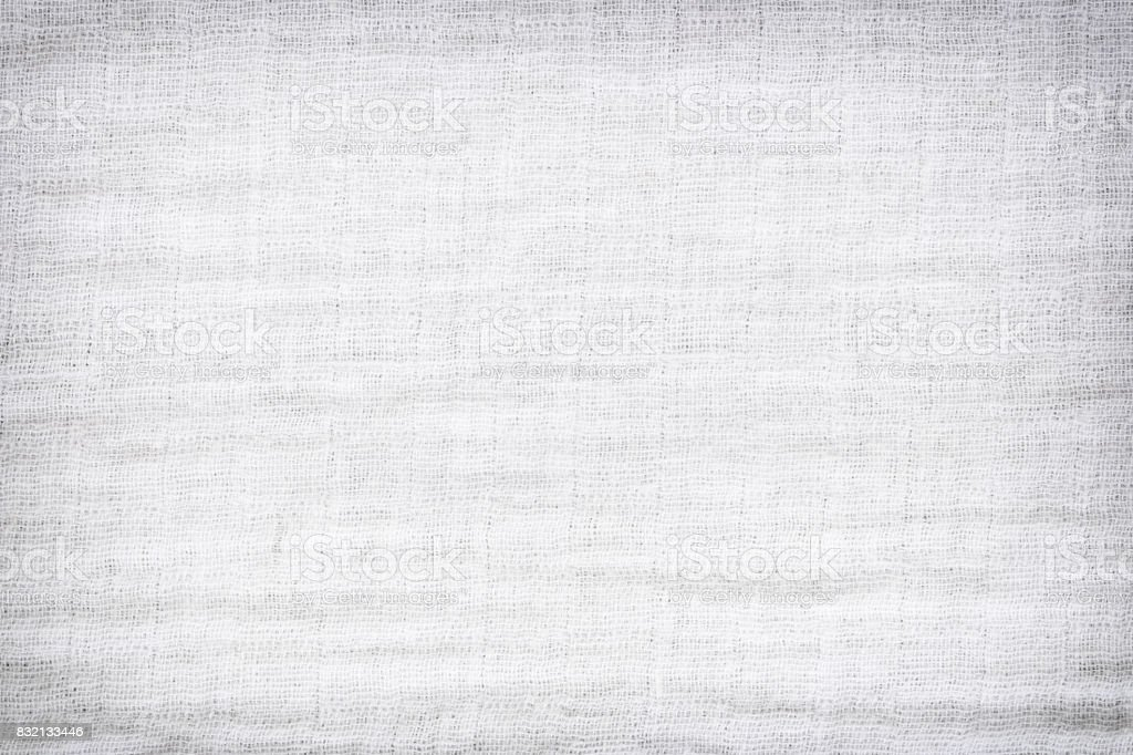 Texture of white raw fabric for the background design,gray fabric texture for backdrop. stock photo