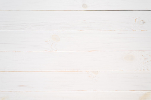 Texture of an old wooden board painted in white. Blank background for design