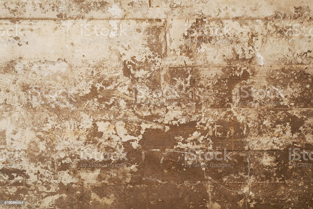 texture of wooden formwork stamped on a grunge concrete wall stock photo