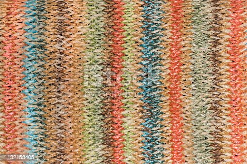 istock Texture of woven straw 1132158405