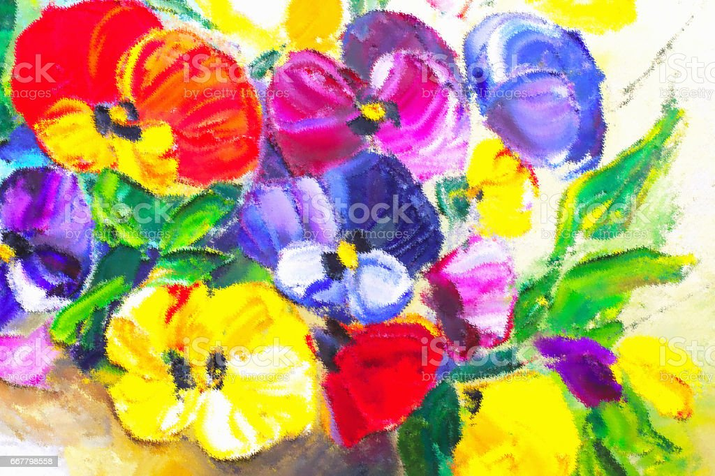 Texture oil painting flowers art painted color image paint for Artist canvas paint color