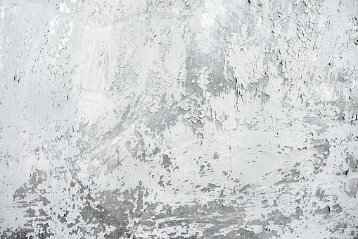Texture on gray with silver background. Old weathered paint