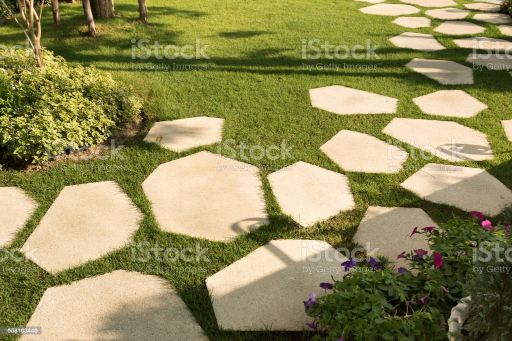 Texture or pattern of paving walkway. stock photo