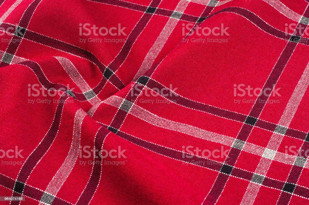 texture, pattern. Scottish tartan pattern. Red and black wool plaid print as background. Symmetric square pattern. yarn dyed flannel is brushed on both sides and perfect for button down shirts, - Royalty-free Abstract Stock Photo