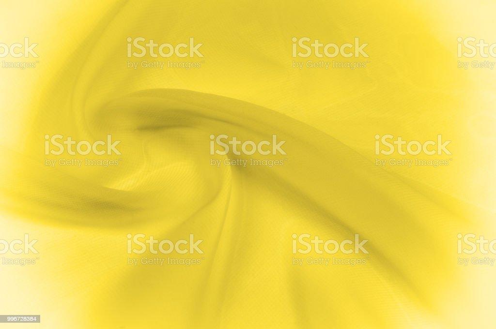 texture, pattern. yellow silk transparent fabric. Sunshine - just one...