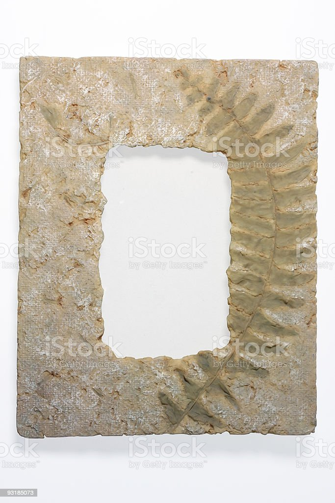 texture picture Frame isolated on white stock photo