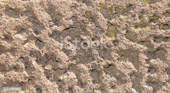 old tufo break in the italian wall in the street way