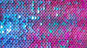 Texture scales with bright Sequins close-up