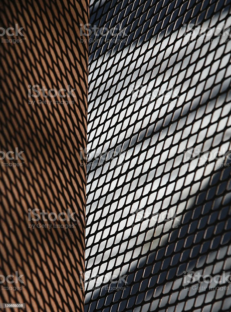 Texture - Screen on Rust royalty-free stock photo