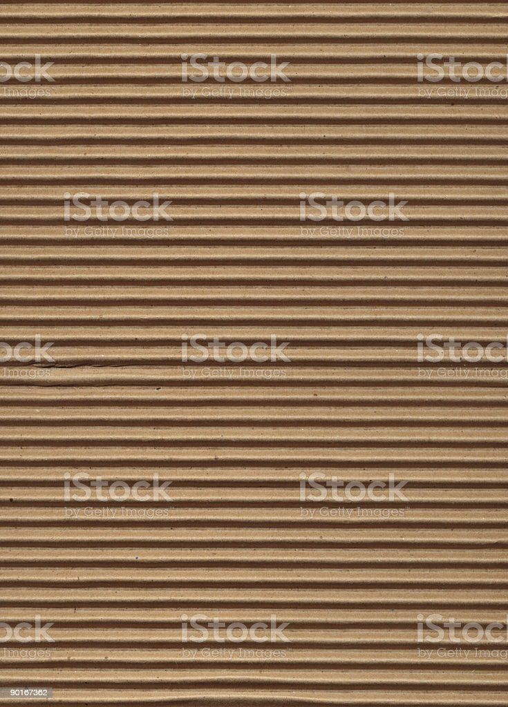 Texture Series - Corrugated Cardboard stock photo