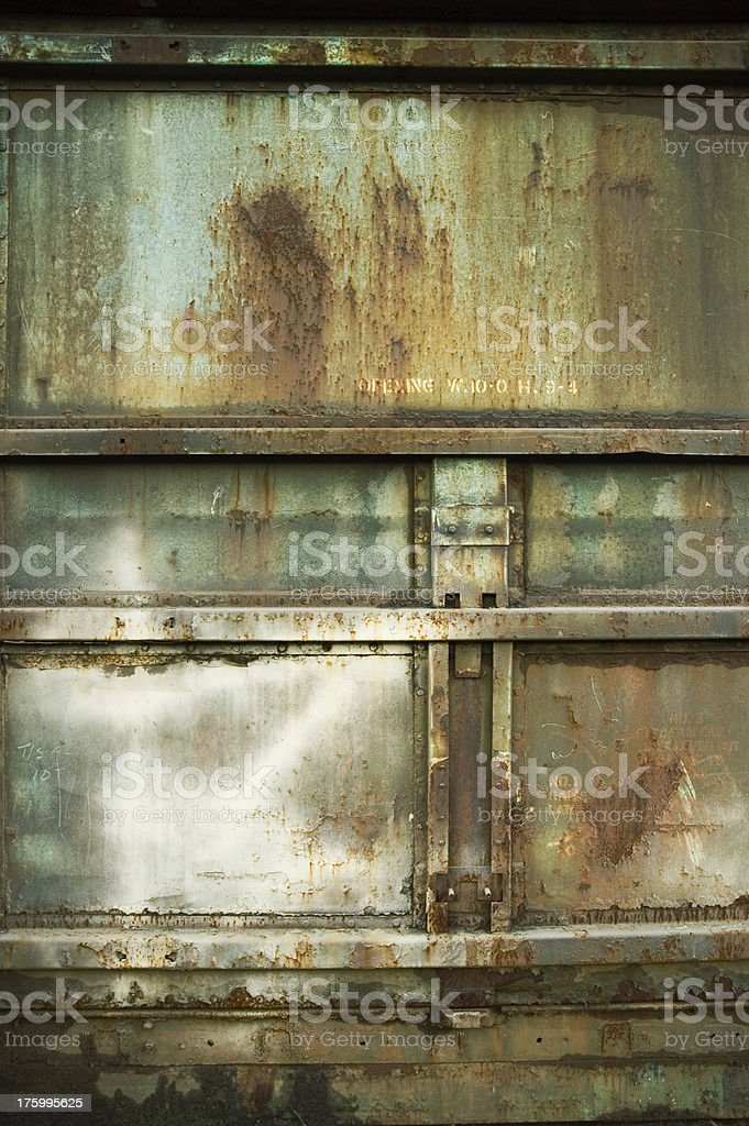 Texture - Steel Container: Green royalty-free stock photo