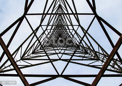 istock texture steel structures of Antenna repeater radio 637139084