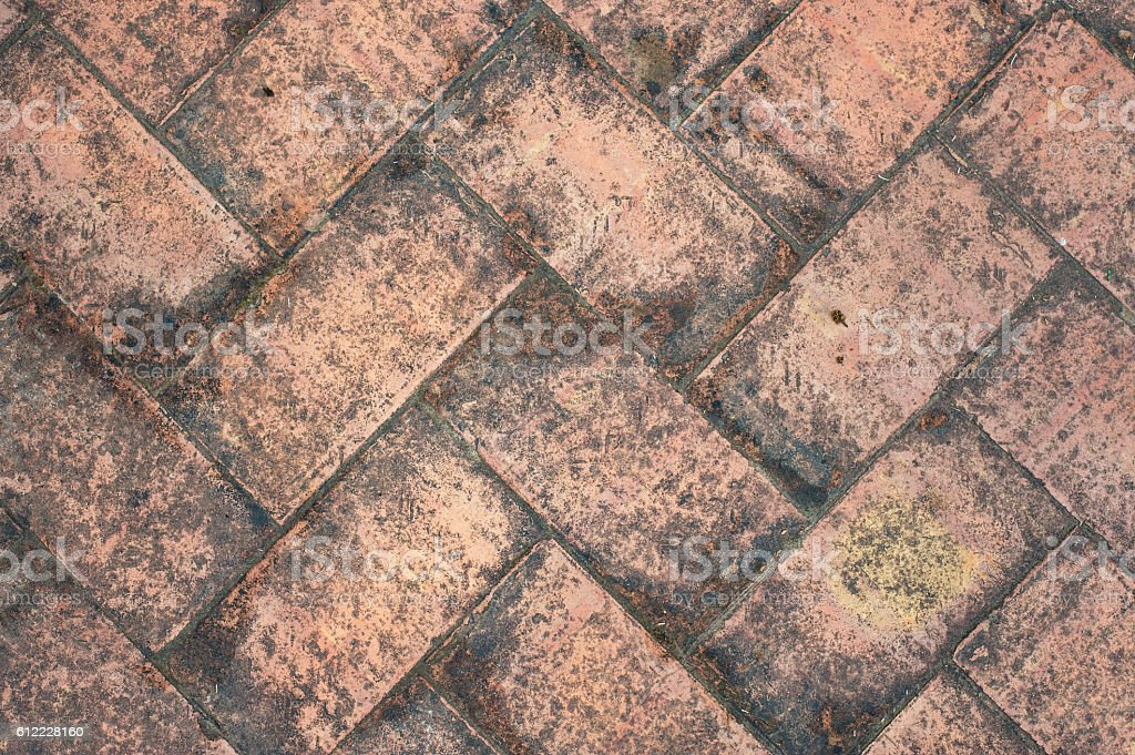 texture tile flooring crossed, aging effect by bad weather foto royalty-free