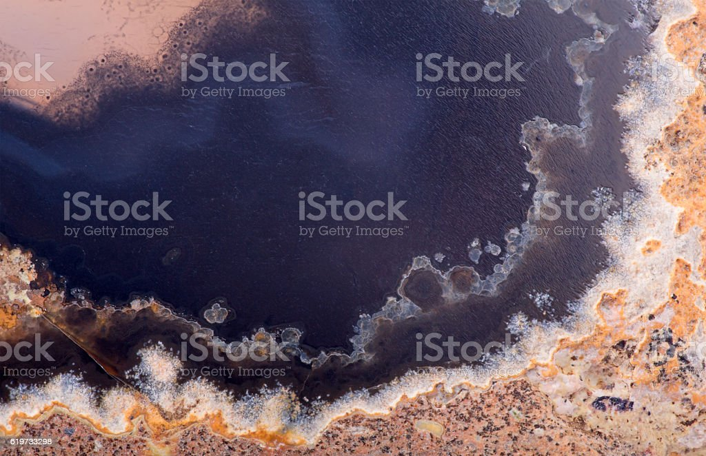 texture with black an brown agate structure stock photo